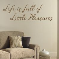 Life is Full of Little Pleasures ~ Motivational Wall sticker / decals